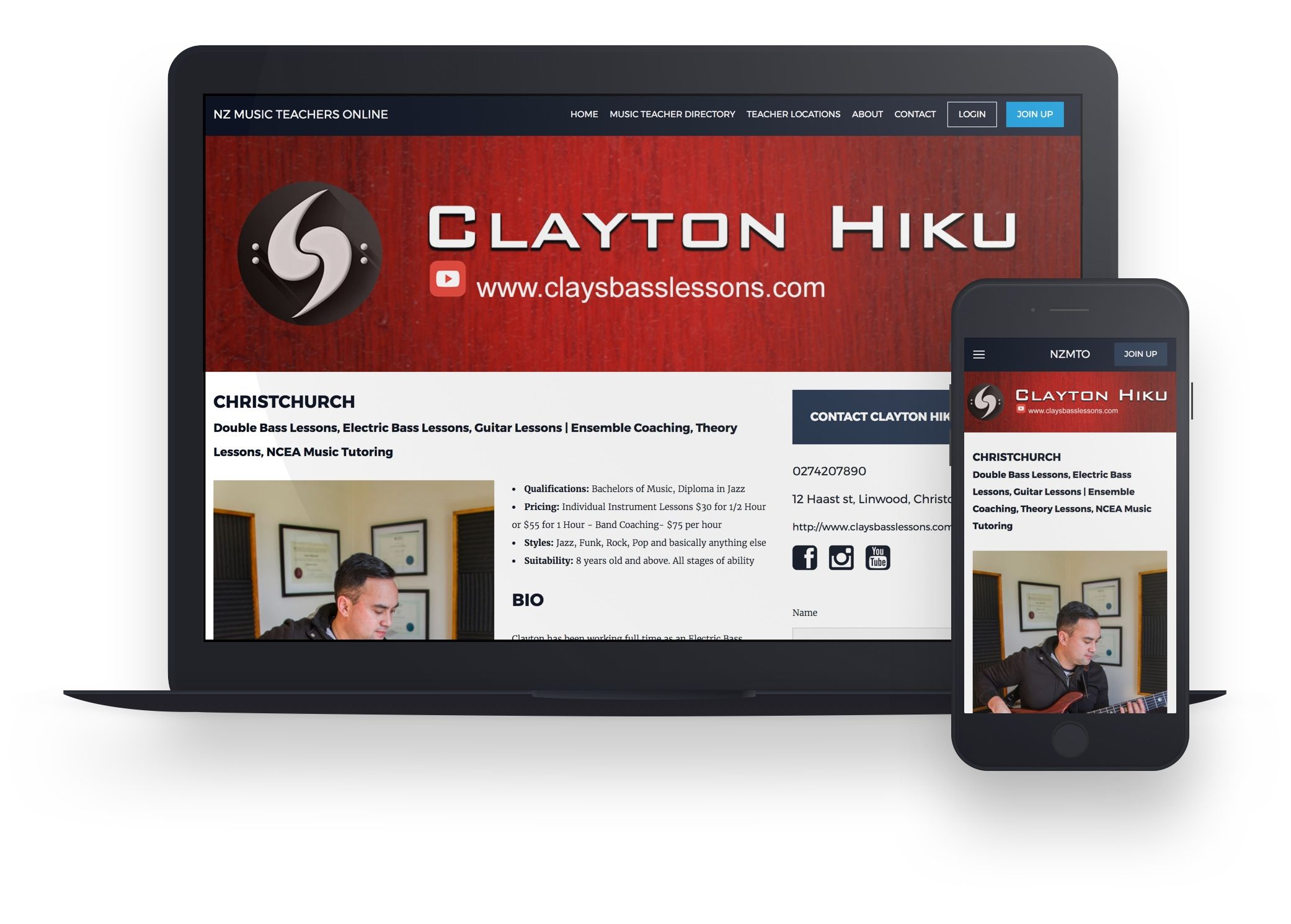 responsive page design example